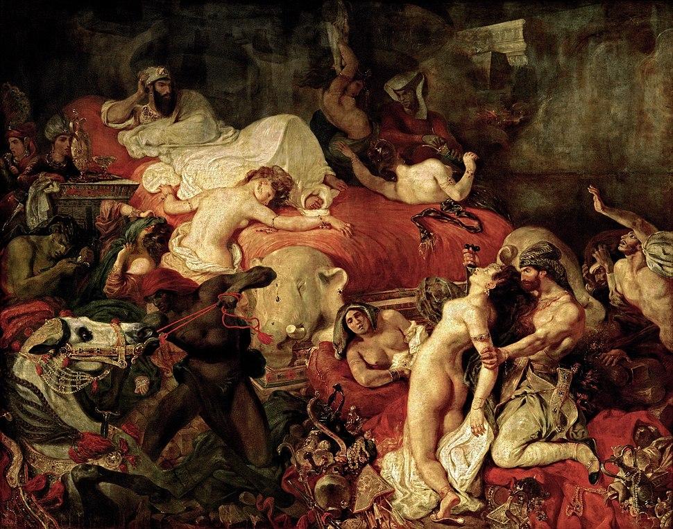 Delacroix - La Mort de Sardanapale (1827)
