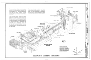 Delavaud Casting Machine - United States Pipe and Foundry Company Plant, 2023 St. Louis Avenue at I-20-59, Bessemer, Jefferson County, AL HAER ALA,37-BES,6- (sheet 12 of 16).png