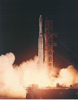 Launch of the first Delta M with Intelsat 301