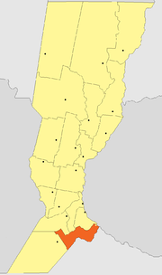 Location of Constitución Department within Santa Fe Province