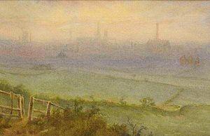 Derby Racecourse - The racecourse, painted in 1913 by Alfred John Keene