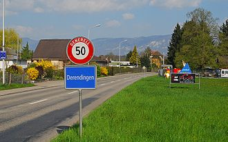 Derendingen, Switzerland - entrance to the village of Derendingen