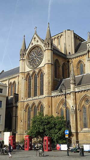 Church of Christ the King, Bloomsbury - Image: Detail of the Church of Christ the King, Bloomsbury
