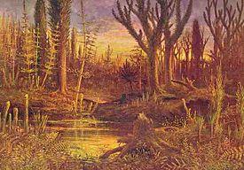 Artist's illustration of a Devonian scene.