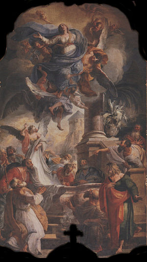 Balthasar Augustin Albrecht - Altar piece from Dießen am Ammersee showing the Assumption of Mary, from 1738
