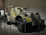 Dingo Light Armoured Car AWM WW2 gallery front view.JPG