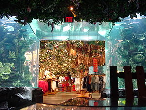 Theme restaurant - The Rainforest Cafe at Disney's Animal Kingdom.
