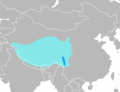 Distribution map of Blue sheep (Bharal).png