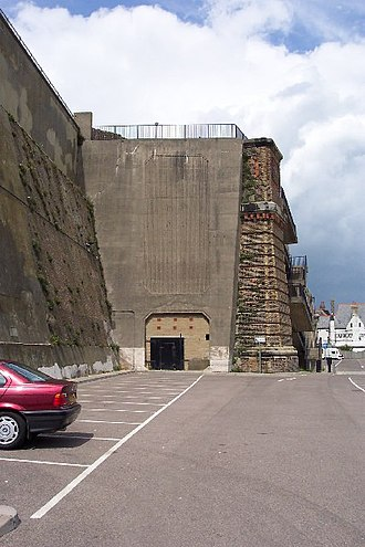 History of Ramsgate - Disused railway tunnel at Ramsgate Harbour, Kent. In 1923 the two competing railway companies that served Kent were merged into the newly formed Southern Railway