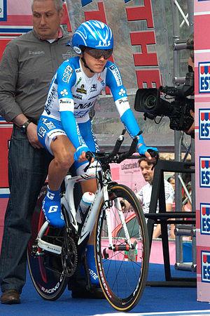 Domenico Pozzovivo - Domenico Pozzovivo before the start of an individual time trial in the Giro d'Italia 2012 in Milan