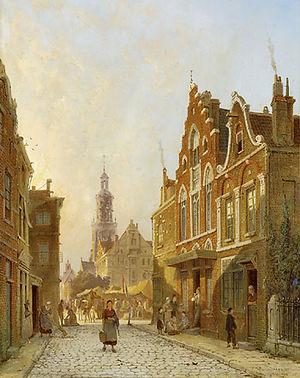 Winschoten - Painting of Winschoten in 1889 by Pieter Cornelis Dommersen.