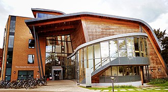 Glued laminated timber - Curved glulam-framed building at the Faculty of Education, University of Cambridge.