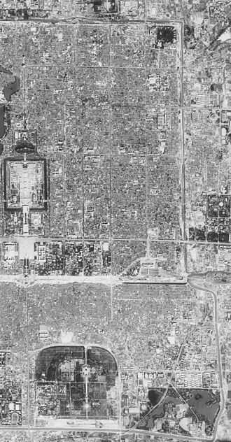 Dongcheng District, Beijing - Satellite image of Dongcheng District. (1967-09-20)