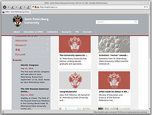 Screenshot of Dooble Web Browser 1.56b