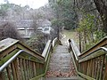 Down the stairs to the White Springs Bath site.JPG