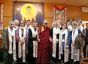 Nora Volkow - Dr. Nora Volkow with the Dalai Lama and other participants in the Mind and Life Conference on Craving, Desire and Addiction in Dharamsala, India
