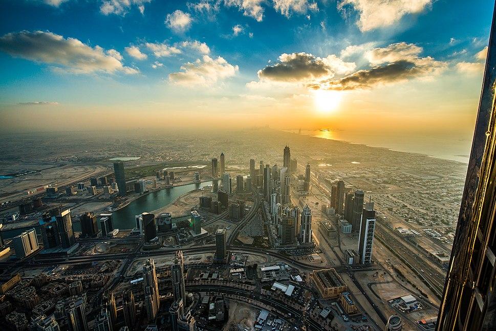 Dubai Sunset from Burj Khalifa
