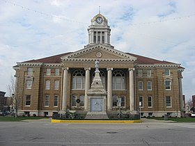 Dubois County Courthouse in Jasper from east.jpg