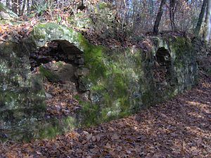Dunlap coke ovens - Sandstone facing of two ovens