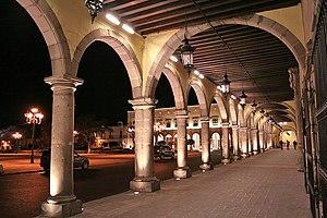 Durango City - Voissoir arches, Palacio de Gobierno