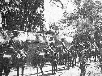 Royal Netherlands East Indies Army - Cavalry of the Royal Dutch East India Army in 1906 during the Dutch intervention in Bali (1906).