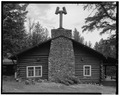EAST ELEVATION - Roosevelt Lodge, Lodge Building, Tower Junction, Park County, WY HABS WYO,15-TOWJU,1A-2.tif
