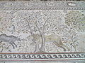 Early Byzantine (6th century) mosaic floor in the Great Basilica, conceived as a single field representing the Heavens (paradeisos), Heraclea Lyncestis, Republic of Macedonia (7451387218) (3).jpg