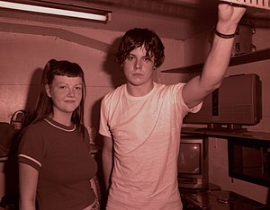 The White Stripes - White Stripes in the back room of Club Shinjuku Jam, Tokyo, to an audience of 10–20 people, in their first Japanese tour.