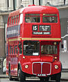East London Routemaster bus RM2050 (ALM 50B) heritage route 15 St Pauls 5 December 2005.jpg