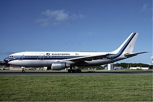 Eastern Air Lines Airbus A300 at St Maarten December 1986.jpg