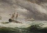 Ebenezer Colls - HMS Endymion rescuing a French two-decker, 1803-05.jpg