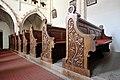 Eberstein Sankt Walburgen Pfarrkirche hl Walburga geschnitzte Baenke 11032014 668.jpg