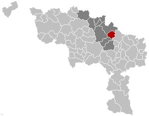Écaussinnes - Image: Ecaussinnes Hainaut Belgium Map