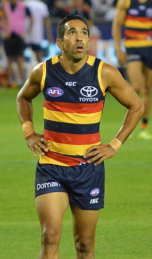 Eddie Betts - Eddie Betts playing with Adelaide in the 2017 pre-season
