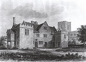 Edington Priory - Edington priory house, 1826
