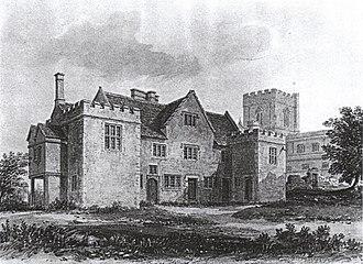 Edington Priory - Edington priory house, 1826