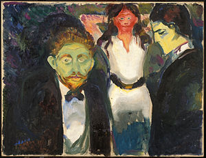 Jealousy (painting) - Image: Edvard Munch Jealousy Google Art Project