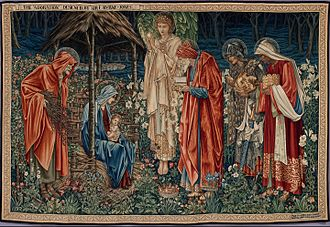 Epiphany (holiday) - The Adoration of the Magi by Edward Burne-Jones (1904)