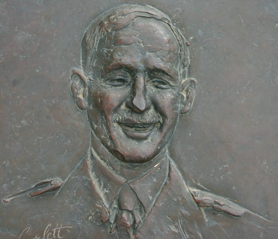 Edward Dunlop (brass relief)