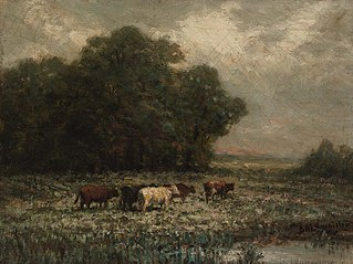 Untitled (landscape with cattle grazing)