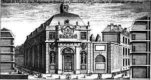 François d'Orbay - Église des Réligieux de Prémontré (1662; demolished 1719)