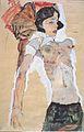 Egon Schiele - Liegendes, halbbekleidetes Mädchen - 1911.jpeg