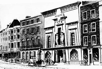 1812 in architecture - London's Egyptian Hall when new