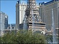 Eiffel Tower from Bellagio fountains area, Las Vegas, NV - panoramio.jpg