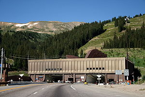 Interstate 70 in Colorado - Entrance to the Eisenhower Tunnel