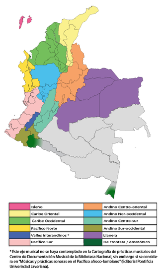 Music of Colombia - Musical Regions of Colombia