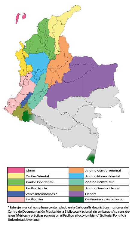 Ejes musicales de Colombia