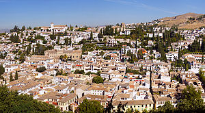 Albayzín district in Granada, Spain.