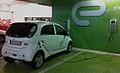 Electric automobile recharging at a Warsaw shopping center garage-1crop.jpg