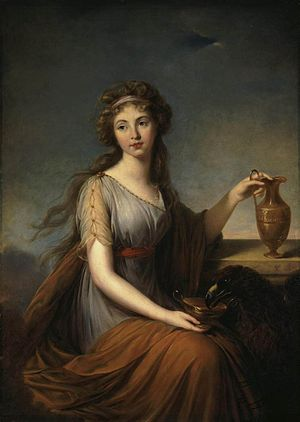 Hebe (mythology) - Image: Elisabeth Vigée Lebrun Portrait of Anna Pitt as Hebe WGA25079